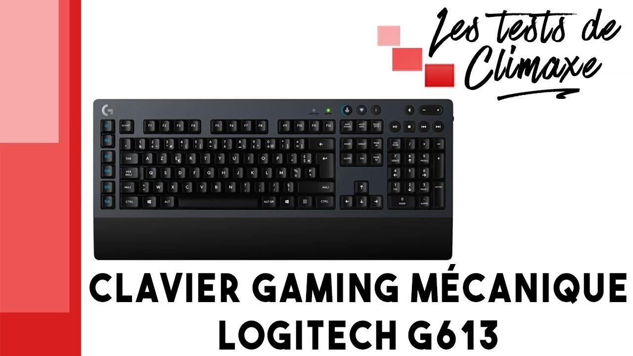 test d 39 un clavier gaming logitech g613 clavier m canique et sans fil youtube. Black Bedroom Furniture Sets. Home Design Ideas