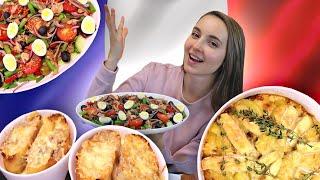 Мой ФРАНЦУЗСКИЙ ОБЕД! 3 простых блюда французской кухни, Тартифлет, Нисуаз, Луковый суп