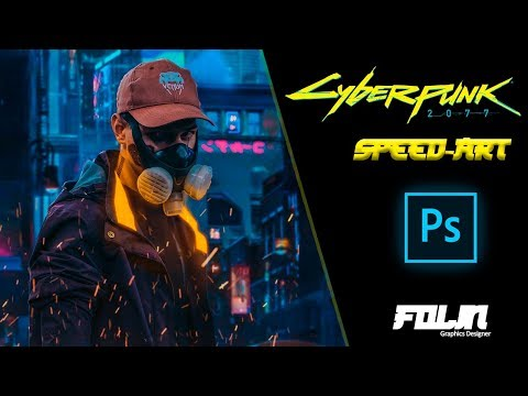 Cyberpunk 2077| Speed Art | Photoshop By Folin