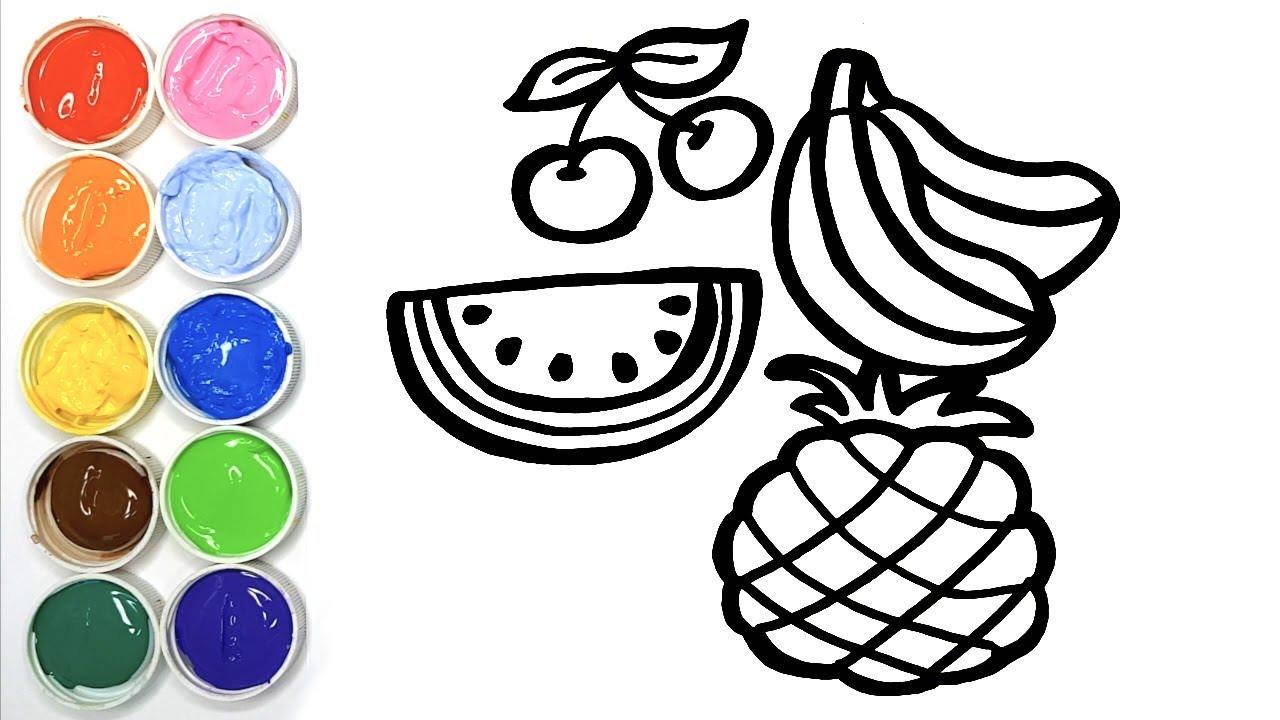Dessiner des Fruits - Dessin et Coloriage pour bébé