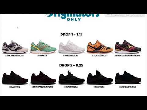 SAUCONY ORIGINATORS SHOETUBER COLLAB FEATURING TONYD2WILD, YOANTY, SHITB + RELEASE DAY DRAMA!