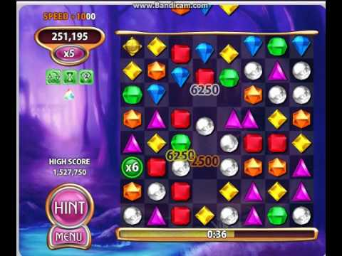 Bejeweled Blitz games using ET and ZET