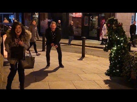 Christmas Bushman Prank  Makes People P**s Themselves