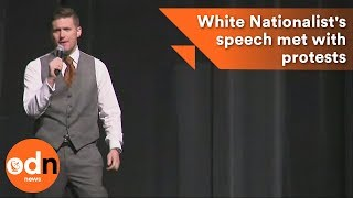 White Nationalist's speech met with protests