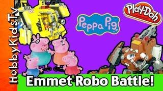 Lego Emmet's Construct-o-Mech! Peppa Pig Mater Robot Set 70814 HobbyKidsVids thumbnail