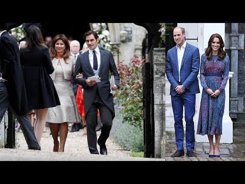 Kate and William receive visit from Roger Federer