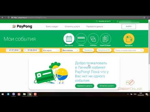 PayPong кредит онлайн на карту в Пей Понг - потребительский тест