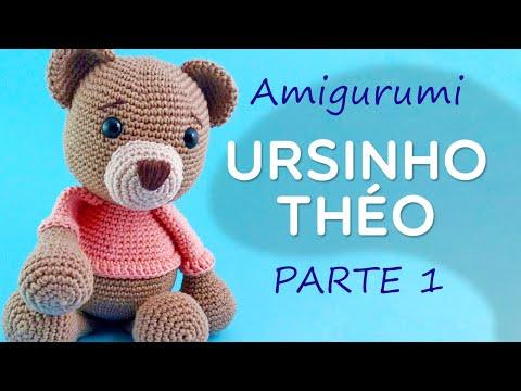 Amigurumi Urso Théo Parte 1 - Passo a Passo por Glê Negri