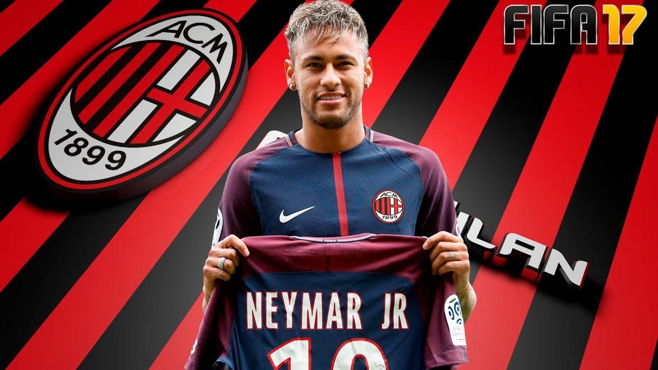 Neymar no milan fifa 17 modo carreira 29 youtube for Fifa 17 milan