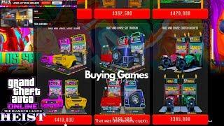 Arcade Tour Laptop GTA Online Casino Heist DLC Buying Arcade Machines Games