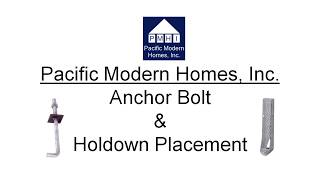 Bolt and Holdown Placement