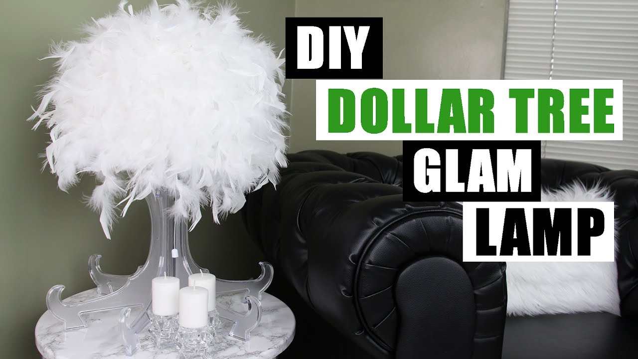 Diy Dollar Tree Glam Lamp Dollar Store Diy Glam Feather