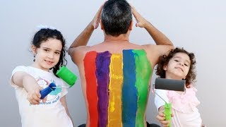 LEARN COLORS BODY PAINT FINGER FAMILY NURSERY RHYMES LEARNING KIDS VÍDEO - VÍDEO EDUCATIVO thumbnail