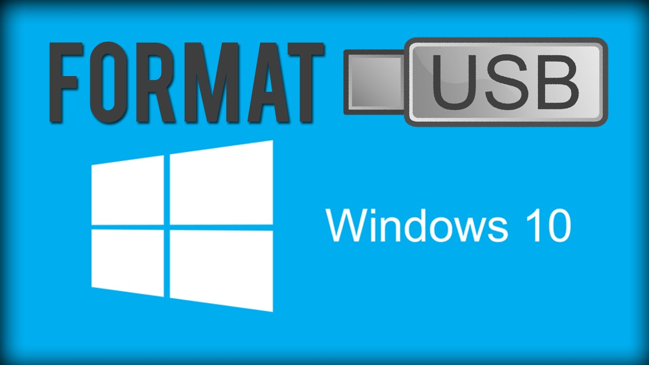 How To Format USB Flash Drive - Windows 10 - YouTube