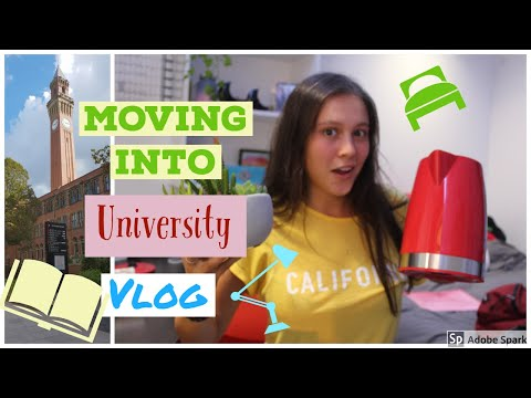 MOVING INTO FIRST YEAR UNIVERSITY OF BIRMINGHAM HALLS VLOG