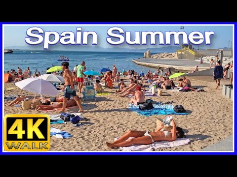 4K WALK Catalonia BEACH Costa Brava Girona SPAIN walking tour VIDEO 4k documentary