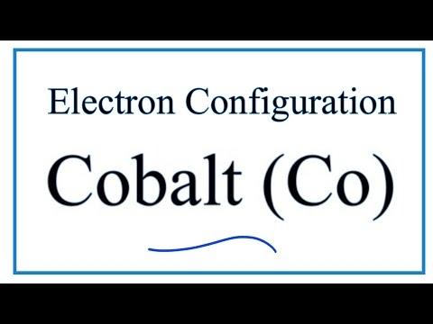 A Step By Step Description Of How To Write The Electron Configuration For Cobalt Co Youtube