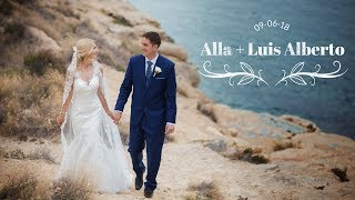 Свадьба в Испании. Алла и Луис Альберто. Видеосьёмка свадеб с воздуха и нескольких камер.