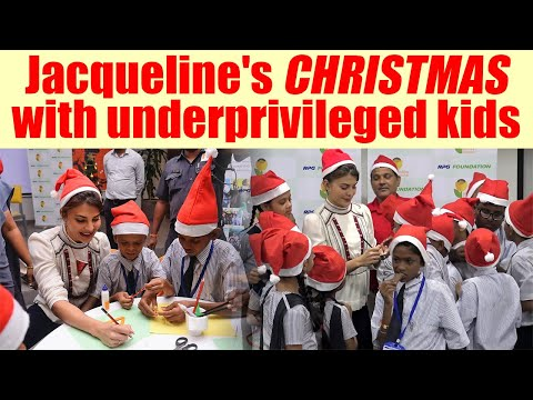 Jacqueline Fernandez celebrates CHRISTMAS with underprivileged kids; Watch Video | FilmiBeat