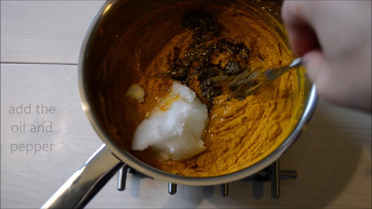 Golden paste (turmeric paste)