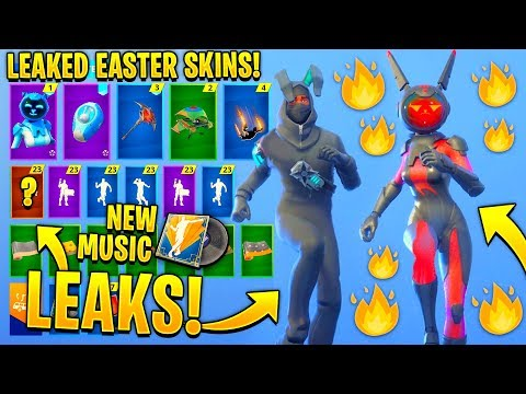 *NEW* All Leaked Fortnite Skins & Emotes..! *Easter Skins!* (Gemini Skin, Electro-Fied!..)
