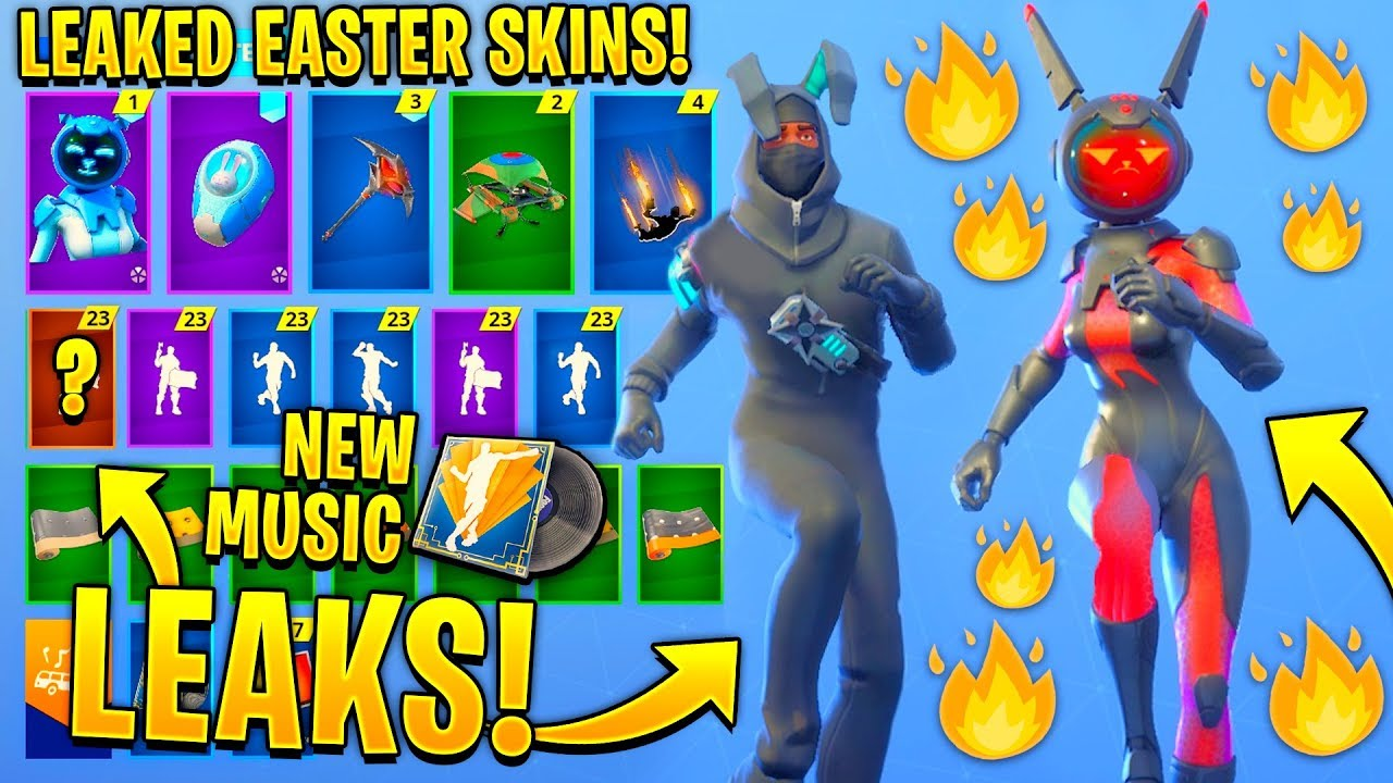 New All Leaked Fortnite Skins Emotes Easter Skins Gemini