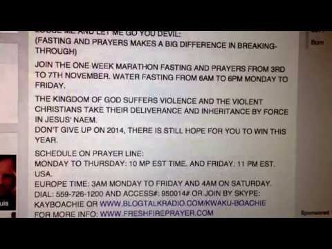 "FASTING AND PRAYERS FOR DELIVERANCE AND BREAK-THROUGH: ""PRAYING"" ""FASTING"""