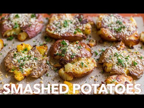 Crispy SMASHED POTATOES -  Easy Side Dish!