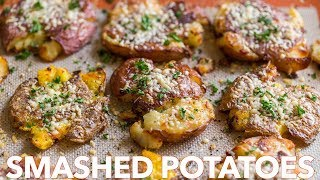 Crispy Smashed Potatoes -  Easy Side Dish!
