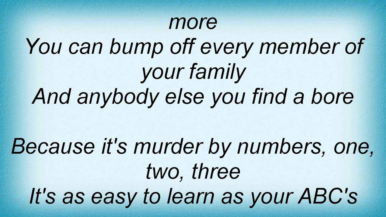 Police Murder By Numbers Lyrics