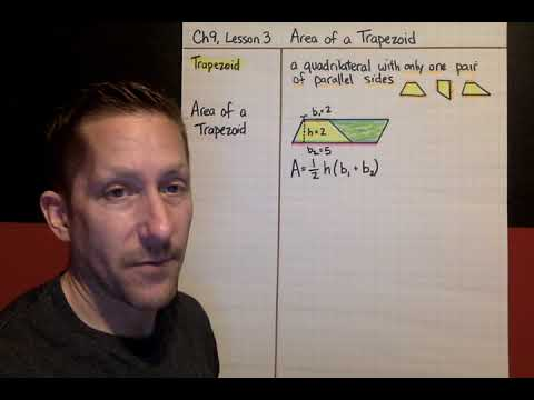 Ch9, Lesson 3, Area of a Trapezoid