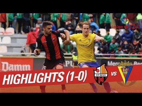 Resumen de CF Reus vs Cádiz CF (1-0)