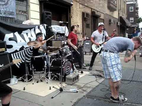 The SmashUp Live in front of SweatShop Rehearsal Studios in Williamsburg, Brooklyn