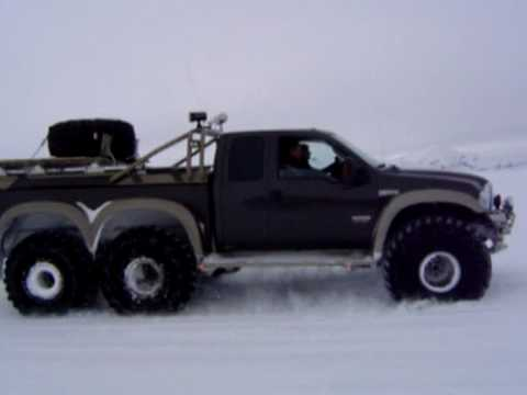 49 Quot Ford F 350 6x6 Driving On Langj 246 Kull Glacier Youtube