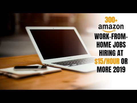 300+ Amazon Work-From-Home Jobs Hiring at $15/Hour or More