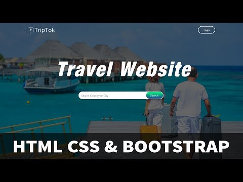 How To Make A Website Step By Step Using HTML CSS Bootstrap | Travel Website Development