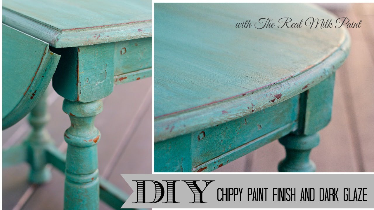 How to get a chippy furniture Finish with Milk Paint and Dark Glaze ...