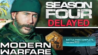 Modern Warfare: Season 4 DELAYED…
