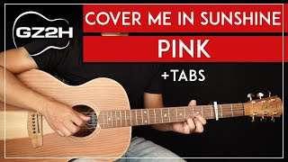 Cover Me In Sunshine Guitar Tutorial P!nk Guitar Lesson |Fingerpicking + Easy Chords|