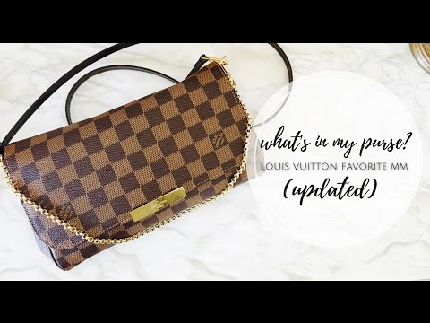What's In My Purse? Louis Vuitton Favorite MM Damier Ebene (Updated)