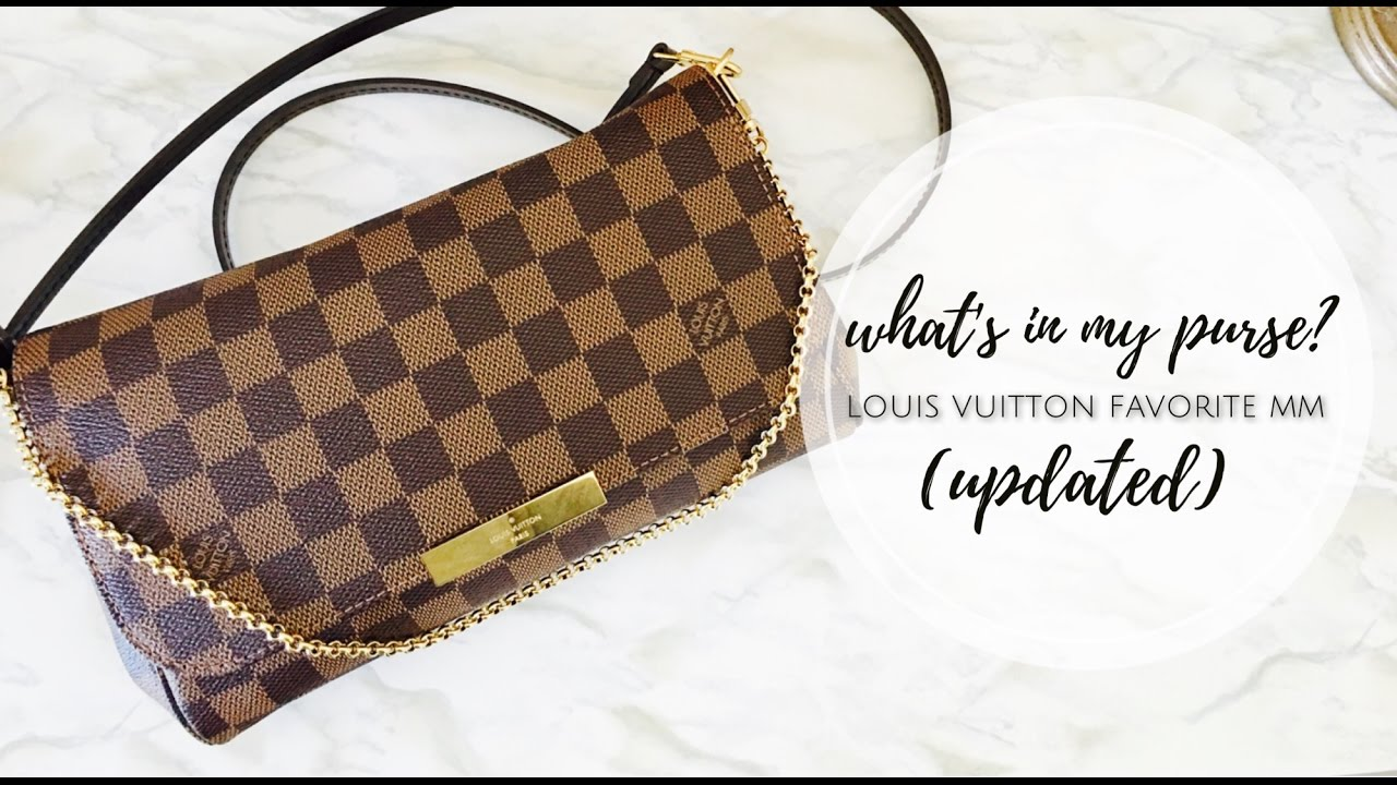 c114a640e60 What's In My Purse? Louis Vuitton Favorite MM Damier Ebene (Updated)