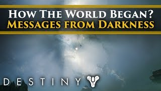 Destiny 2 Shadowkeep Lore - Is this how The Universe began? Messages from The Darkness!