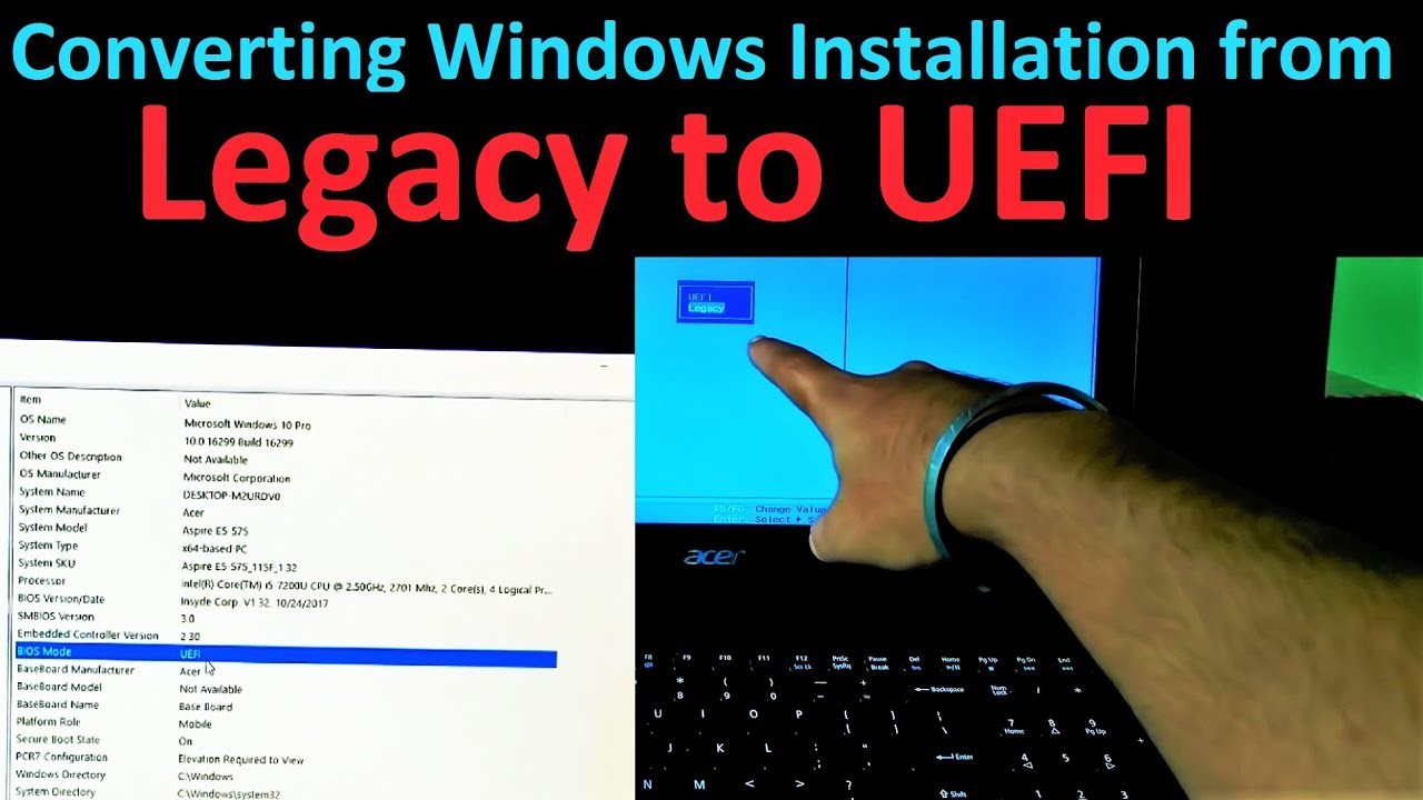 How to Convert Windows 10 Installation from Legacy Boot to UEFI Boot (Easy  Method)