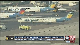 Former Allegiant Air mechanic says passengers should be concerned with airline's safety
