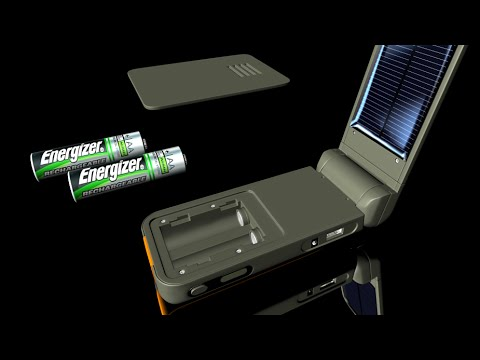 Energizer Solar Powered Battery Charger - Solar Flip