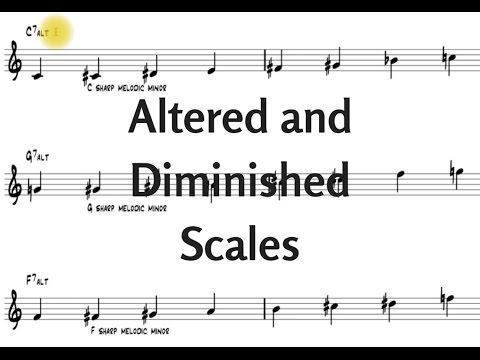 Jazz Licks & Jazz Harmony Lessons - The Altered & Diminished Scales