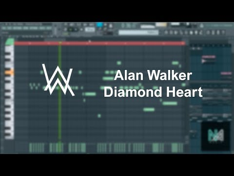Alan Walker - Diamond Heart (FL Studio, Piano Cover) + FLP