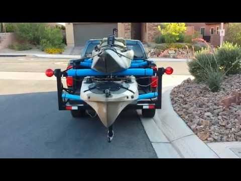 DIY Pick Up Truck EZ Load Extender Double Yak Stack Kayak Transport  Part 2