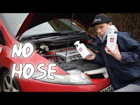 Cleaning a K20 engine with NO WATER