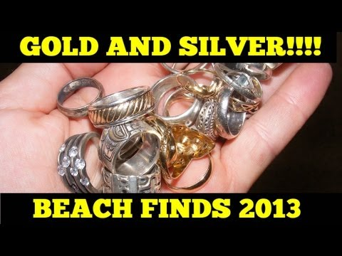 Metal Detecting Florida Beaches Summer 2013 - Gold, Silver and Coins!
